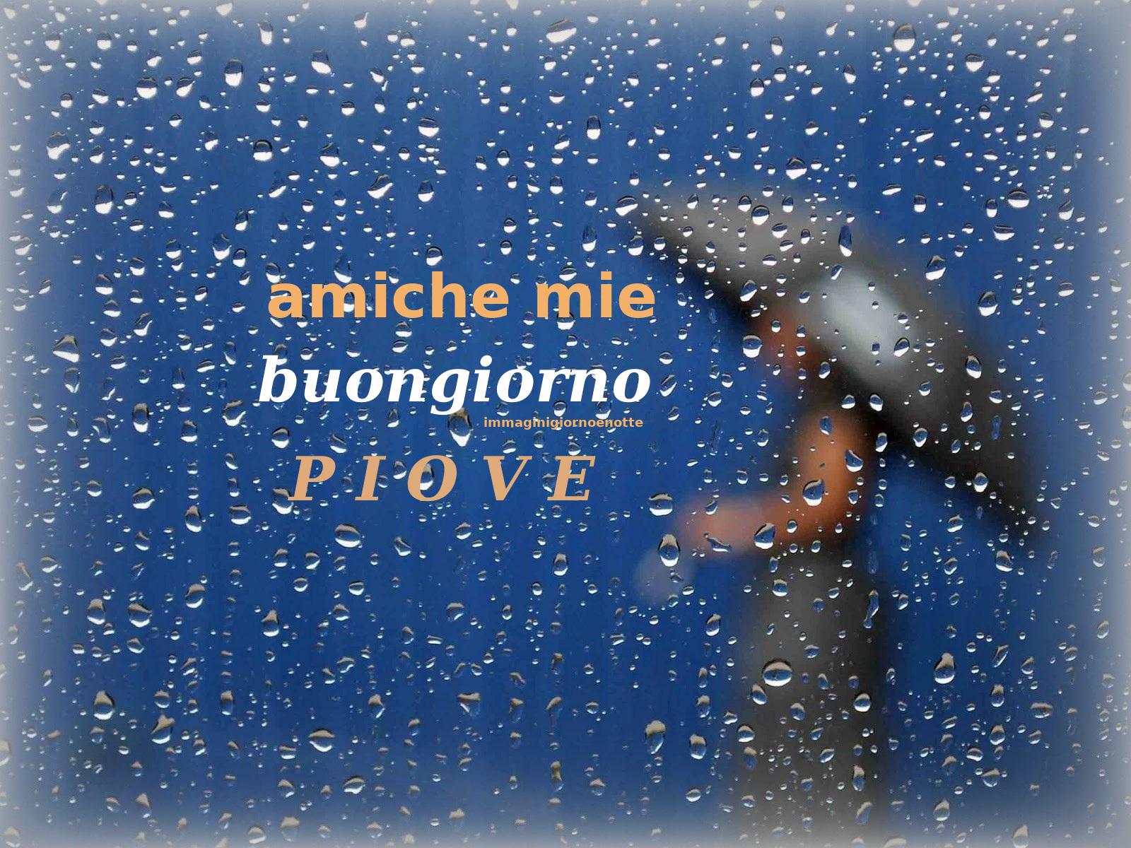 immagini buongiorno piove